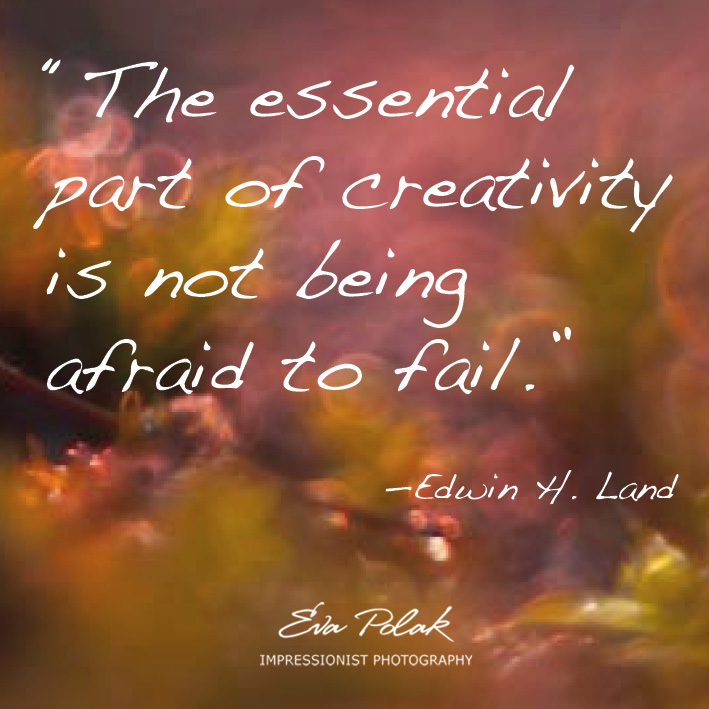 """The essential part of creativity is not being afraid to fail.""    —Edwin H. Land"