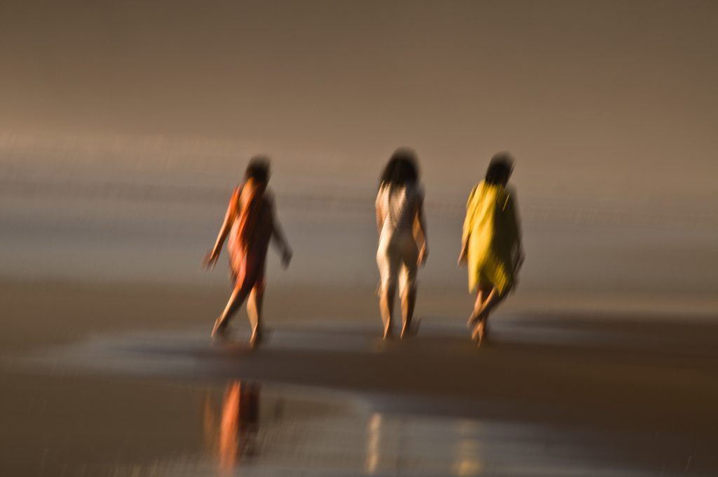 On the beach impressionist image by Eva Polak