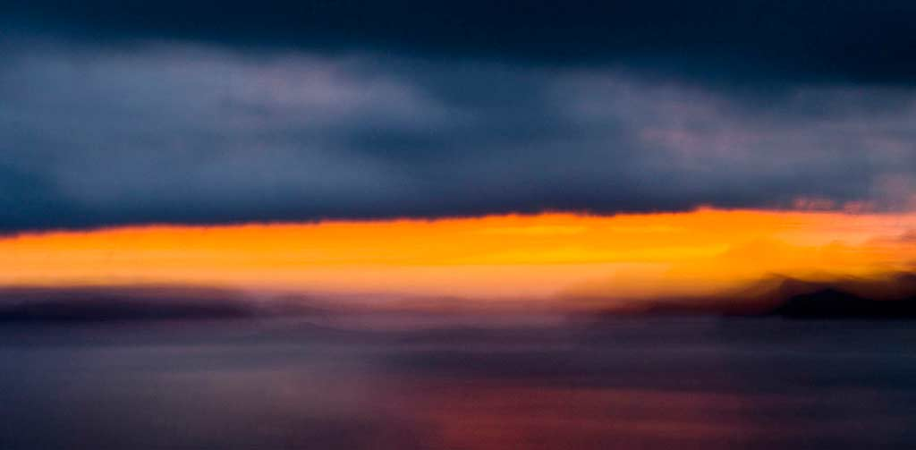 impressionist vision of a sunset