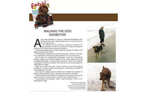 Info about walking the dor exhibition in Fetch magazine