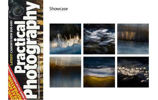 showkase of images in Practical Photography Magazine